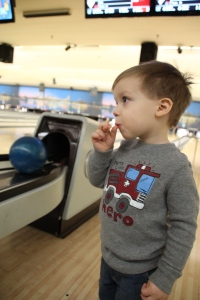 Caden's First Time Bowling 2014-02-23 048