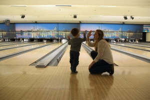 Caden's First Time Bowling 2014-02-23 059